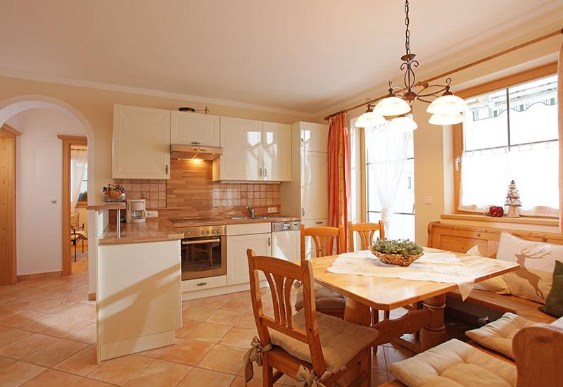Familienfreundliche Appartements – große geräumige Küche mit allem Komfort ausgestattet